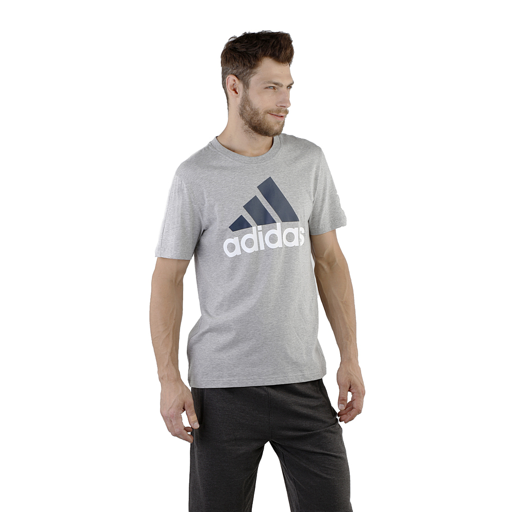 Koszulka adidas Essentials Linear Tee szara DU0409 | | Sklep